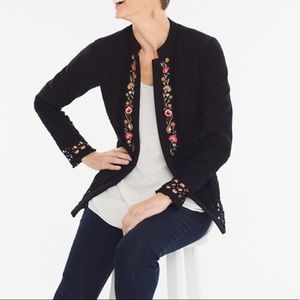 NWT Chico's Floral Embroidered Novelty Jacket